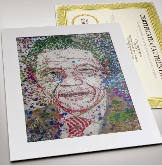 Art Tribute to Nelson Mandela By Young Female Visual Artist Nile  title=