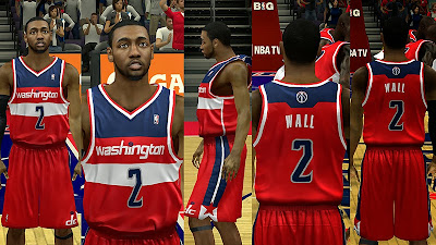 NBA 2K14 Washington Wizards Away Jersey