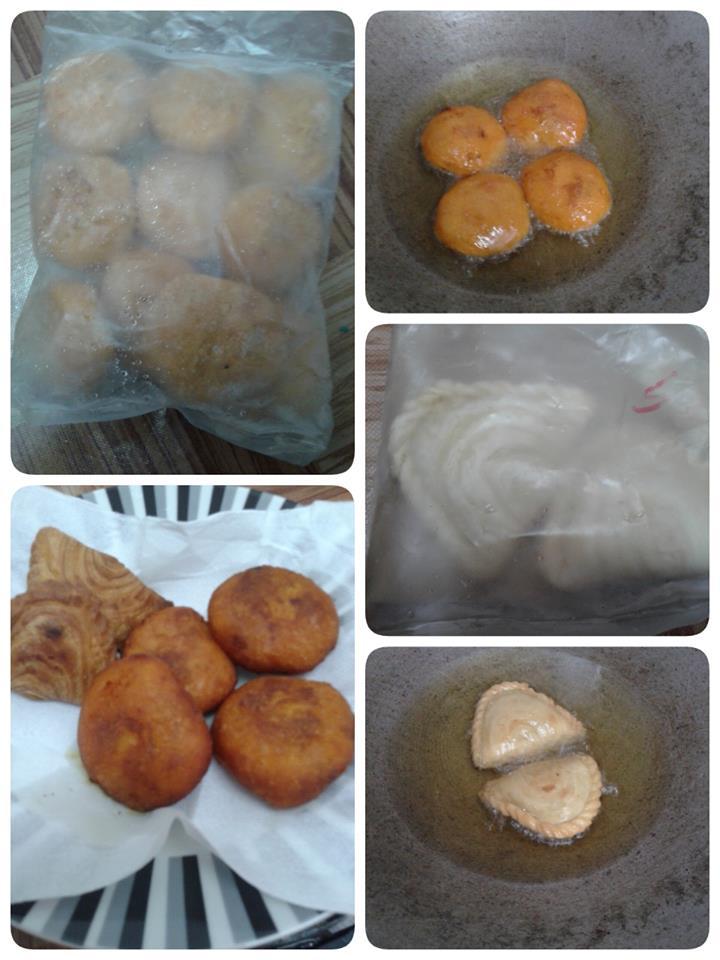 cucur badak frozen ubi oren sepeket 10 biji (RM 5.00)