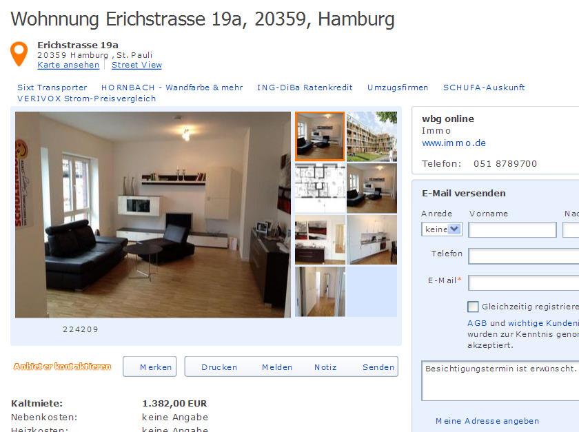 erichstrasse 19a 20359 hamburg gegen wohnungsbetrug against rental scammers. Black Bedroom Furniture Sets. Home Design Ideas