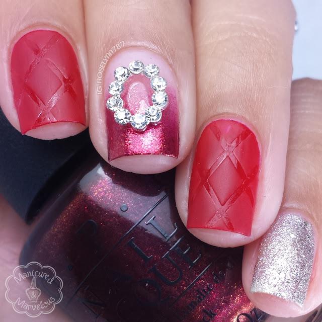 OPI Starlight and Preen.Me VIP Nail Art