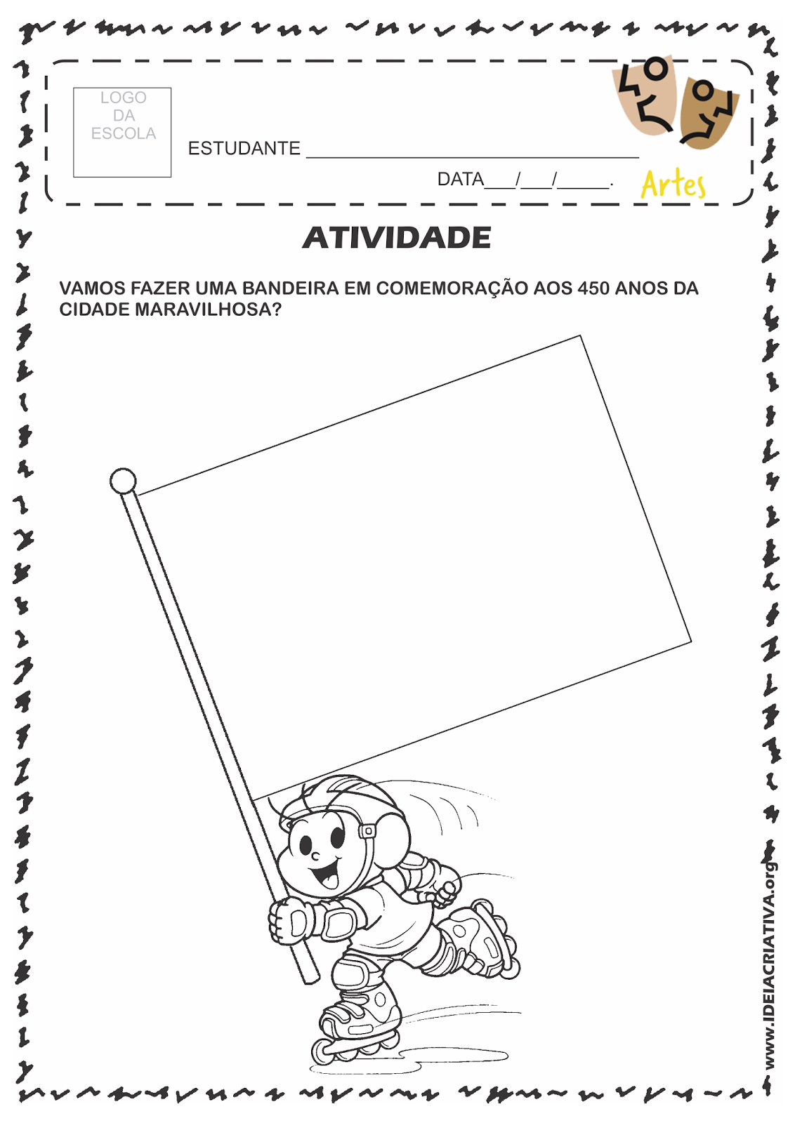 Atividade Rio 450 Anos Homenagem com Criação de Bandeira Criativa.