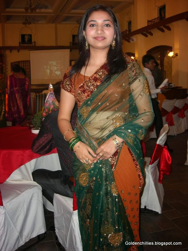 South Indian Aunties in Transparent saree hot photos