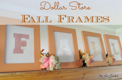 DIY  Dollar Store Painted Fall Photo Frames