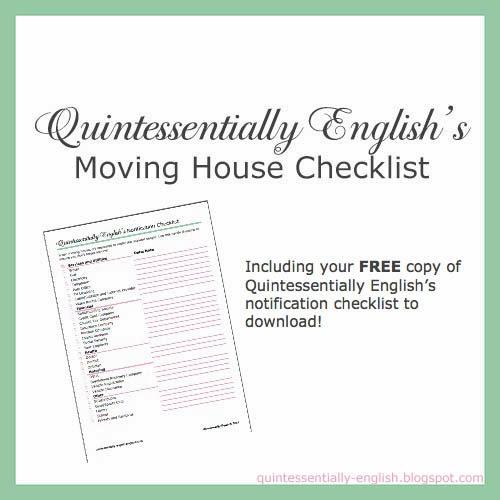 Quintessentially English's Moving House Checklist