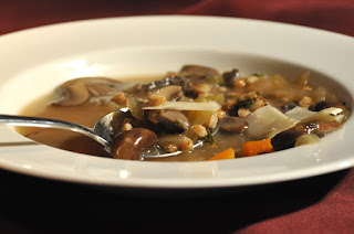 Recipe: Farro and mushroom soup