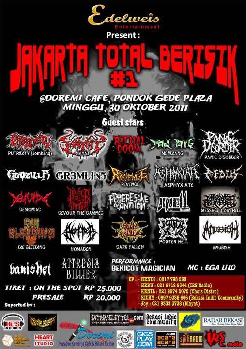 Jakarta Total Berisik #1 @ Doremi Cafe 30 October 2011