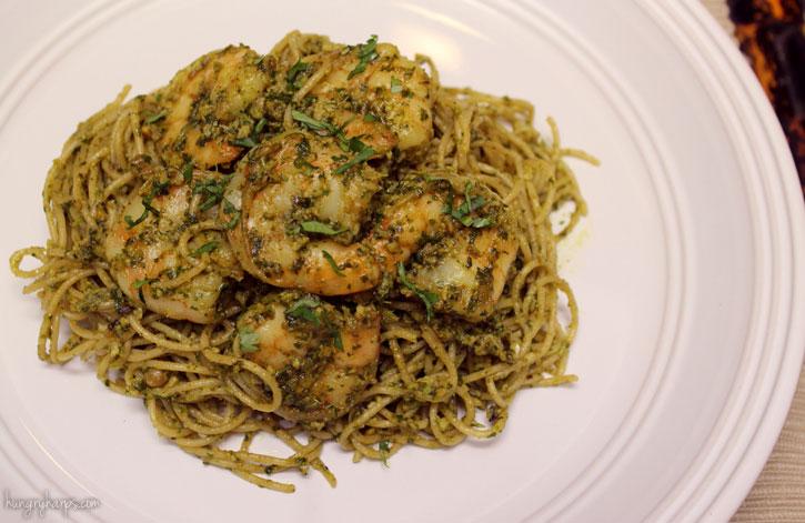 Shrimp cilantro pasta recipe
