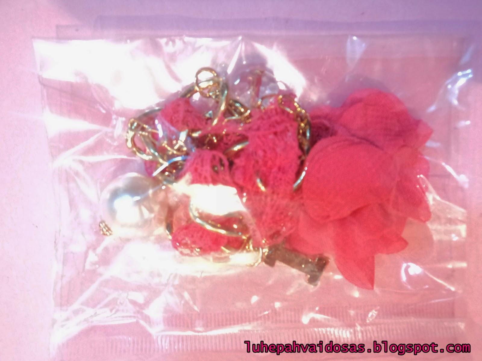 pulseira de rosa