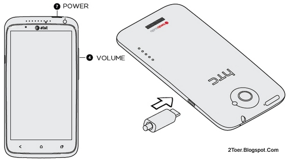 Power Volume buttons Master Reset, Charge Battery, HTC One X