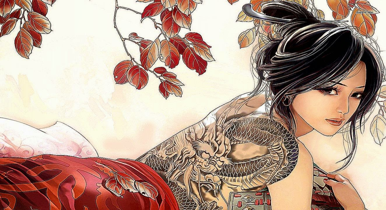 Girl anime tattoo art wallpaper hd desktop wallpaper gallery for Girl tattoo artist