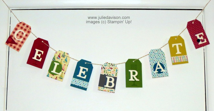 Stampin' Up! Tag Topper Punch Birthday Banner
