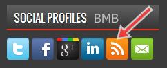 feedburner dalam social profiles