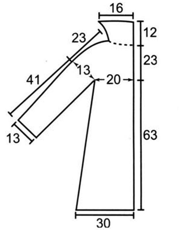 Выкройка летнего платья 38-40 размера рост 156см - scdooru