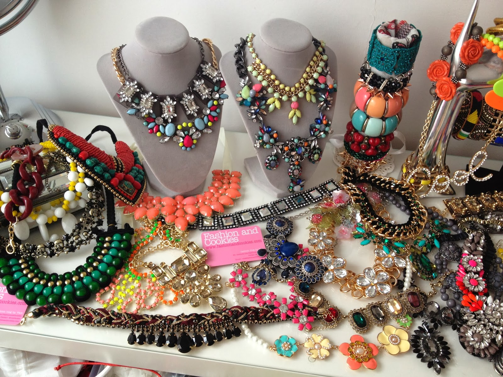 statement necklaces, Fashion and Cookies, fashion blogger