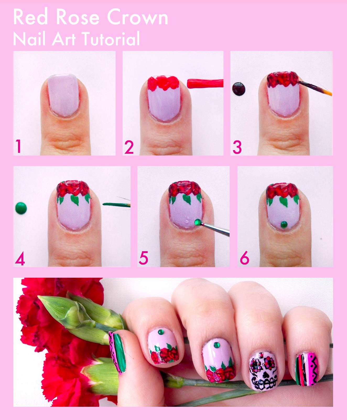 Simple Nail Art With Steps ~ the best inspiration for design and ...