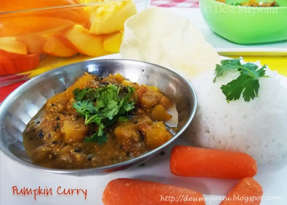 Pumpkin Curry - Rajasthani Style