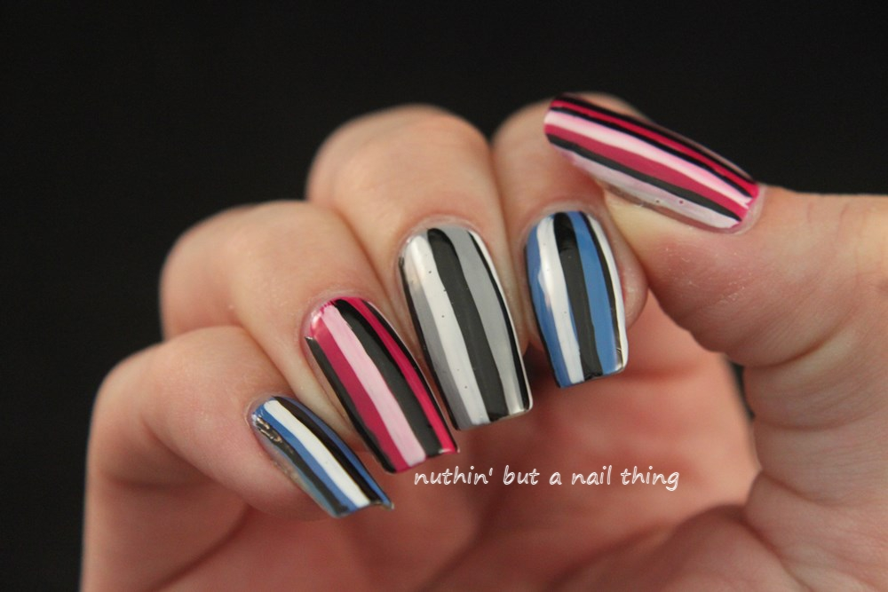 nuthin\' but a nail thing: Stripe nail art