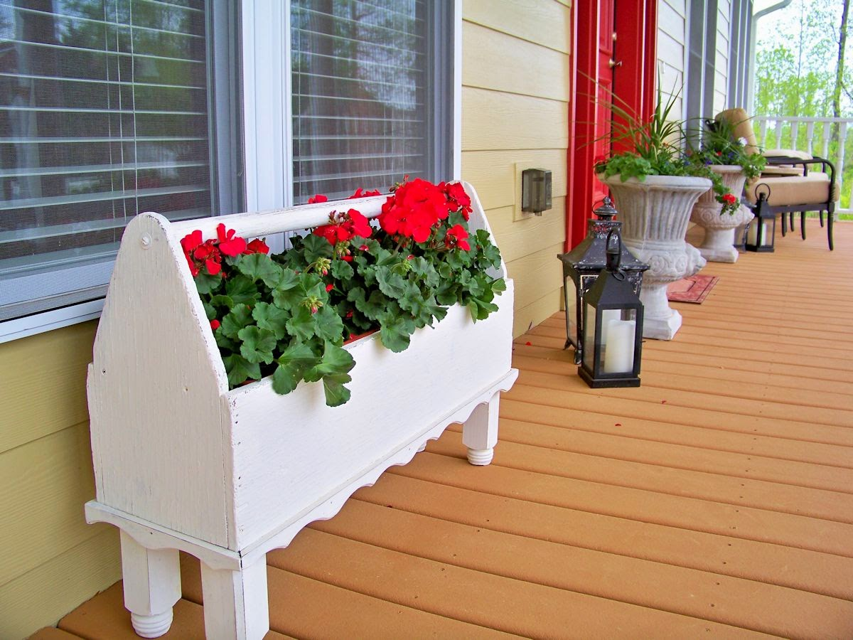 The comforts of home front porch flowers