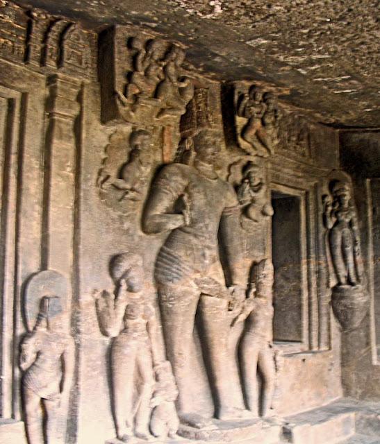 Buddha statue at the Aurangabad caves