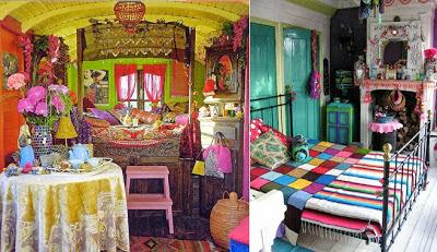 estilo gipsy pintura y madera