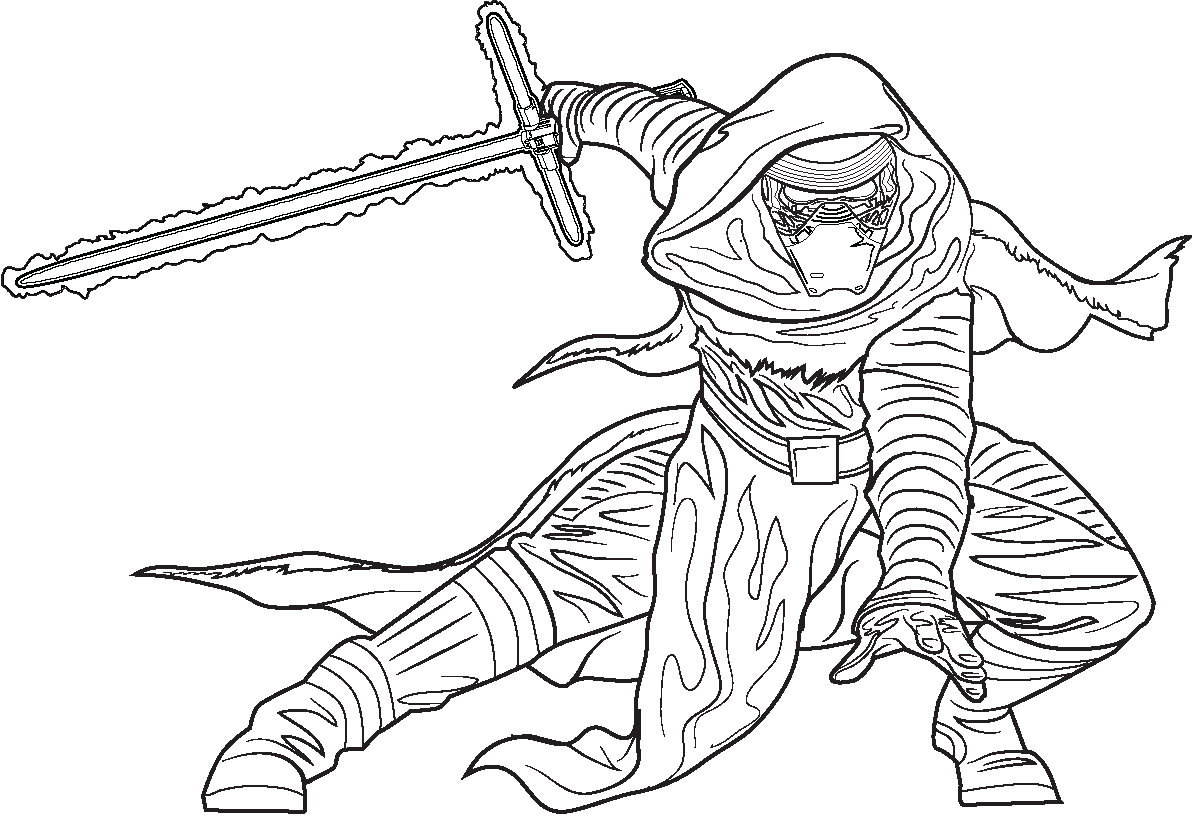 Coloring Pages Kylo Ren : Polkadots on parade star wars the force awakens coloring
