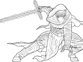 Awakens The Force Star Wars Coloring Pages Free