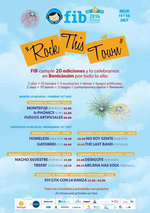 FIB 2014, Rock This Town, cartel, festival