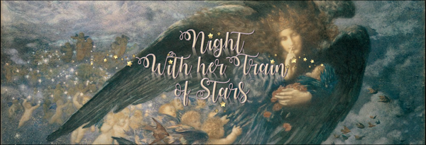 Night with her train of stars