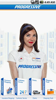 progressive girl in logo