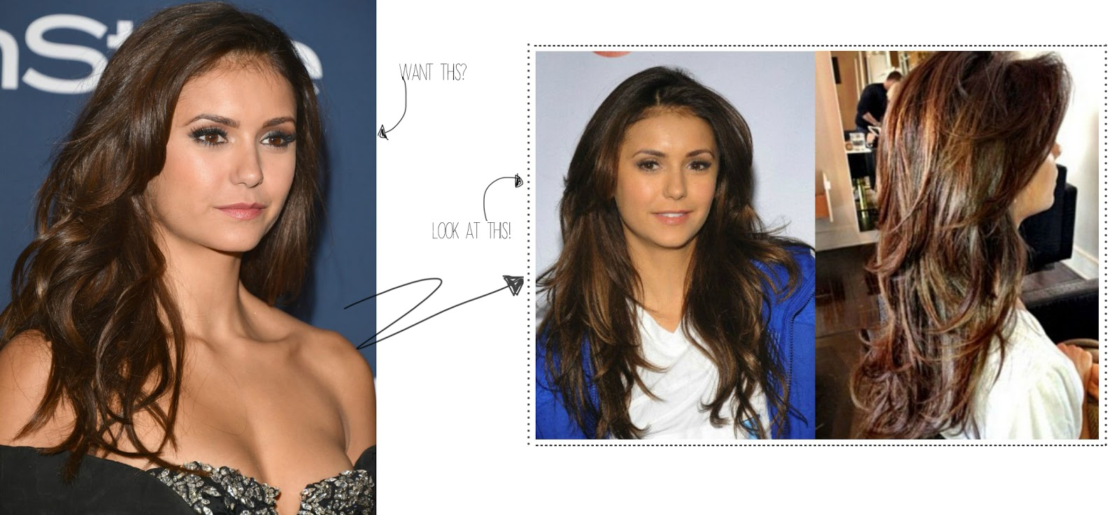 nina dobrev beauty hair style tips another kind of. Black Bedroom Furniture Sets. Home Design Ideas
