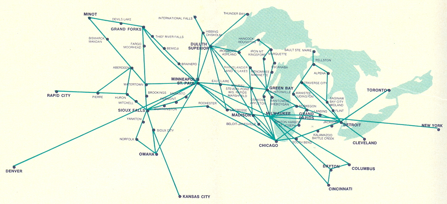 Airlines past present north central airlines route map aircraft