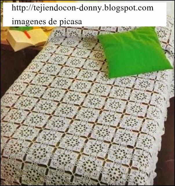 Tejidos a crochet ganchillo patrones cubrecama tejido - Aplicaciones de ganchillo para colchas ...