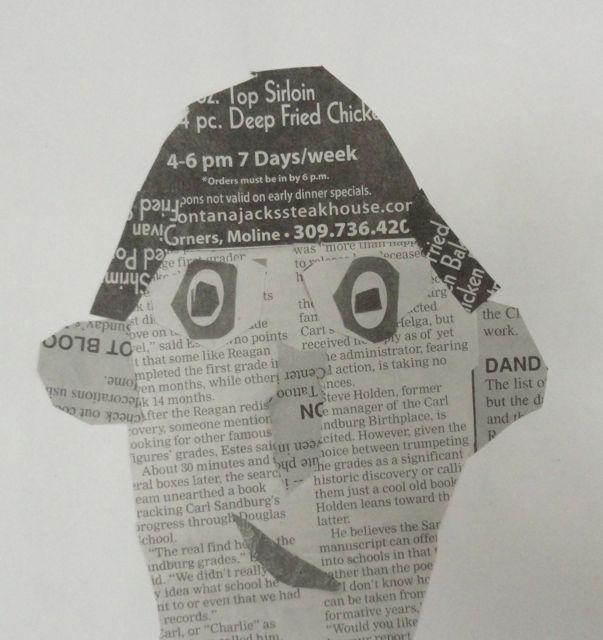 Newspaper Self Portrait Collage