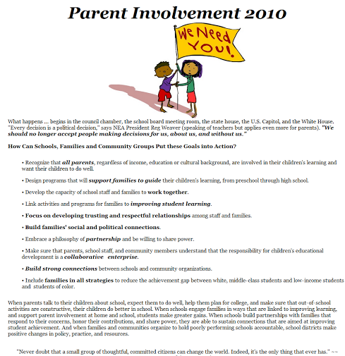 parental involvement essay example