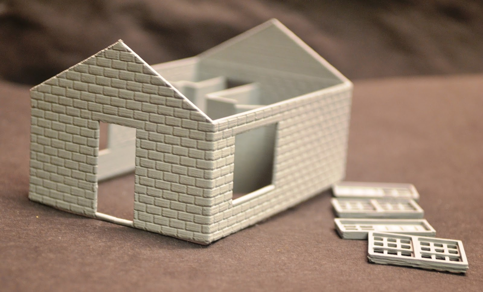 Nirvana valley model railroad slaughter house 3d printed for 3d printed house model