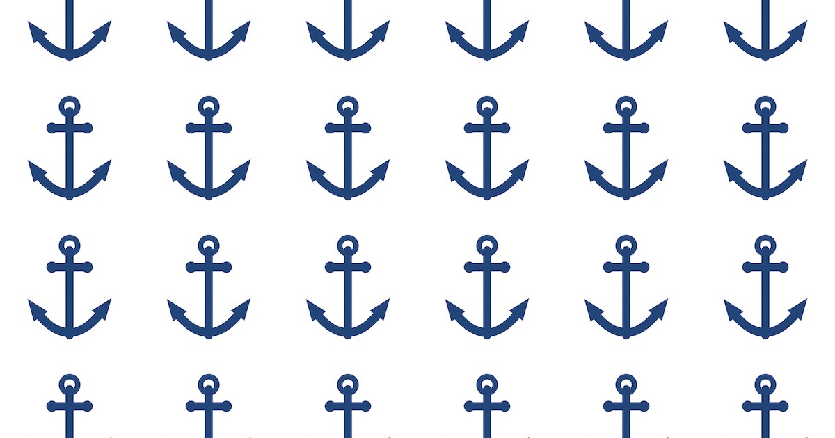 It's just a picture of Playful Printable Anchor Template