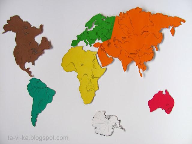самодельный географический пазл