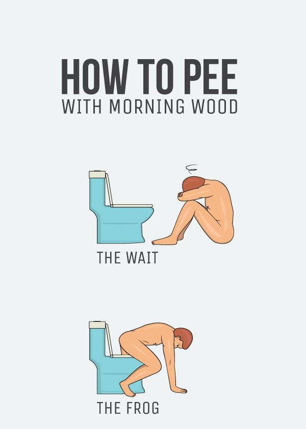 9 formas de mear con erección mañanera