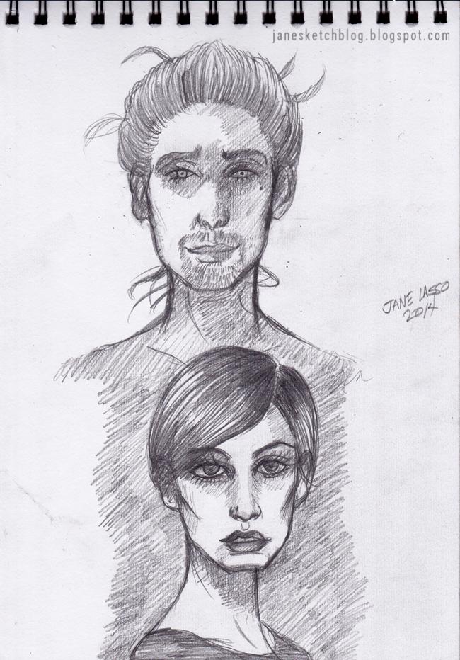 Práctica de rostros a lápiz.
