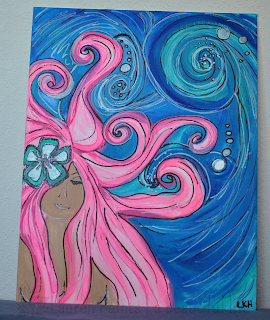 Lauren Harmon from Lauren Paints: Hawaiian Dreams Mermaid Painting
