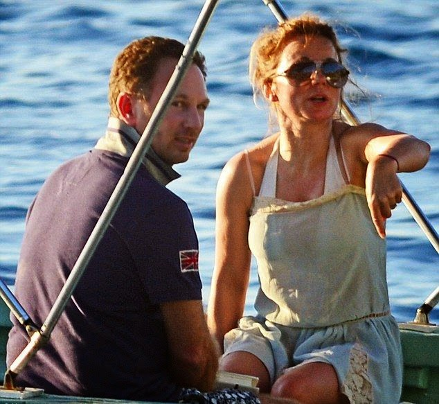 Hmmm! Geri Halliwell was not down to show its all for the television show and just spending the fantastic moment with fiancé, Christian Horner at St Lucia on Thursday, January 1, 2015.