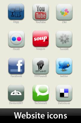 Karton-mavi ye�il-RSS feed-Web site icon seti