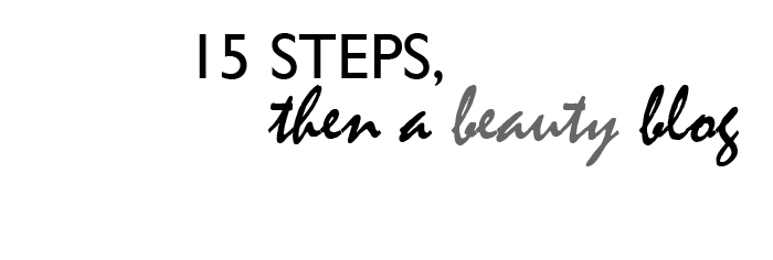 15 steps, then a beauty blog
