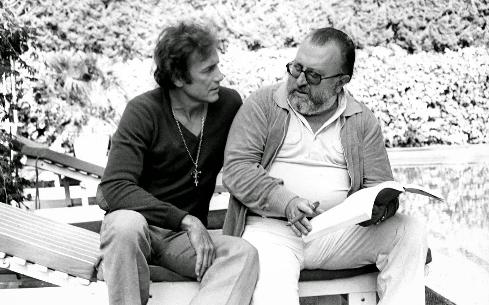 Clint Eastwood y Sergio Leone en Almería durante el rodaje de Per un pugno di dollari