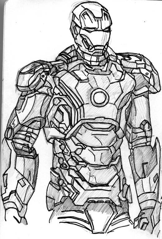 James Mathurin Art 3 Iron Mans!