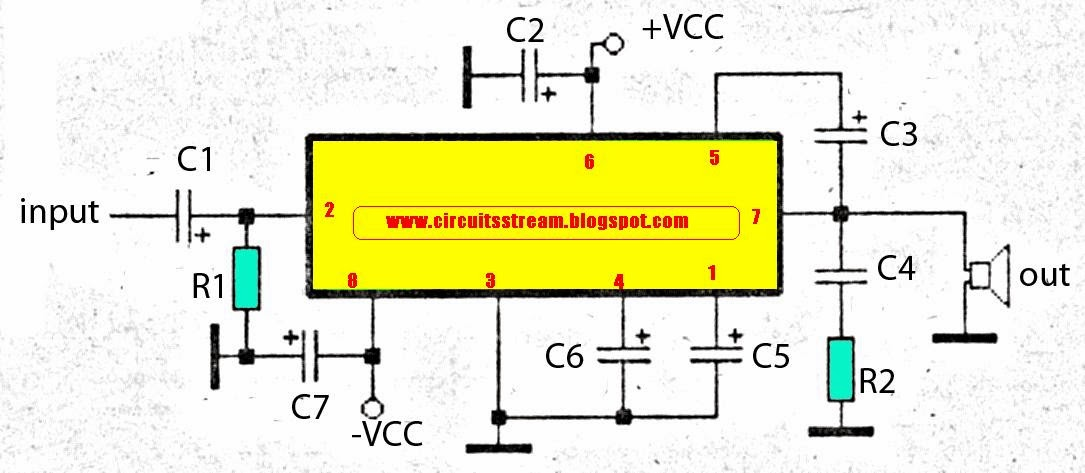 simple subwoofer amplifier circuit diagram with 30w output power rh streampowers blogspot com Klipsch Subwoofer Wiring Diagram Amp Wiring Diagram