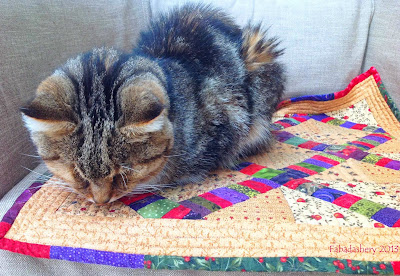 Sparky on 'Easy Street Parking Lo't Cat Mat Quilt