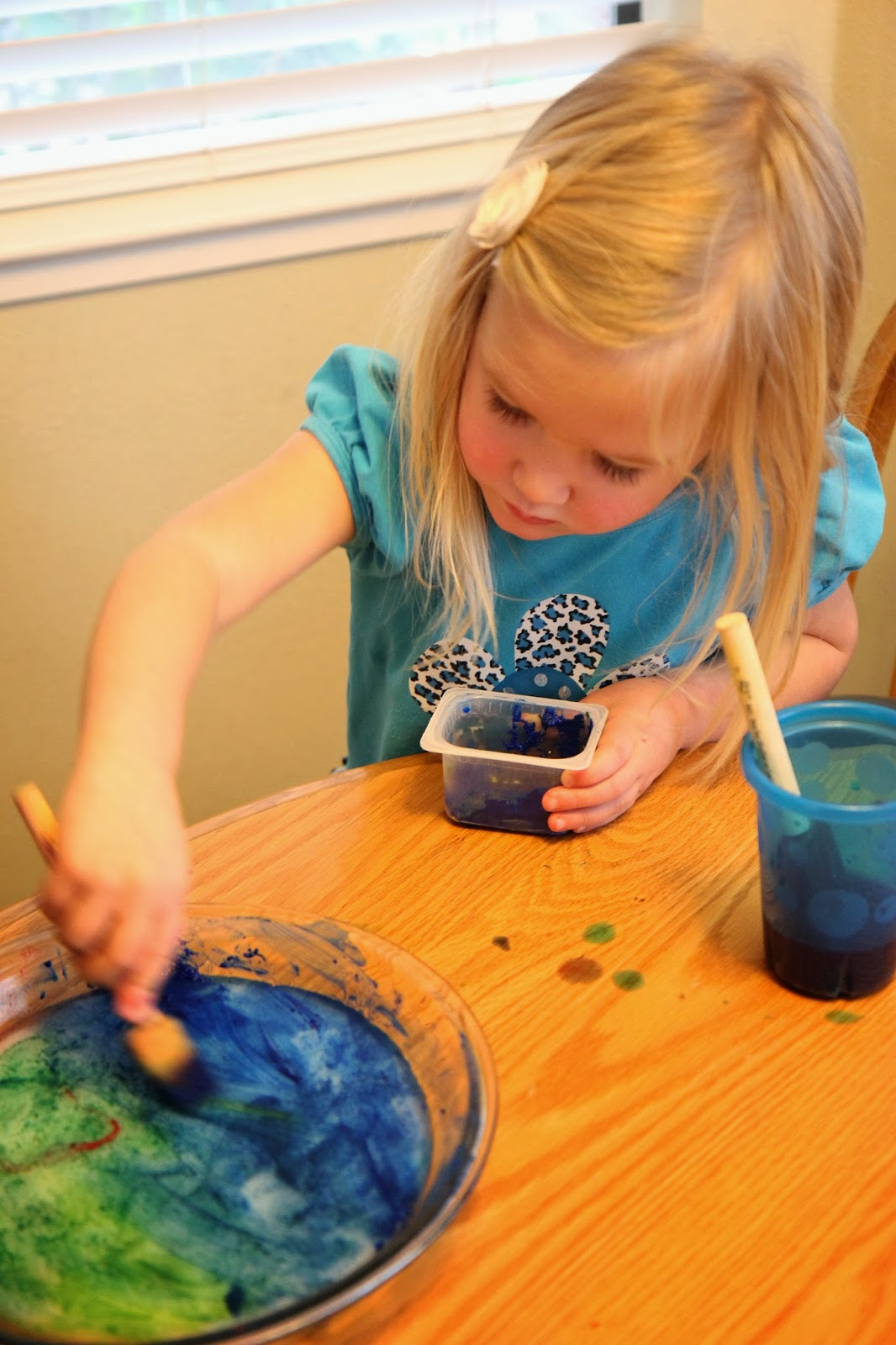 toddler approved painting on ice