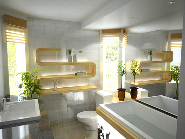 Modern Bathroom Shelving remodeling photo